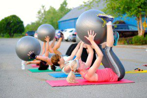 Outdoor Stability Ball Pass