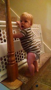 Kam on stairs