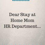 Dear SAHM HR Representative