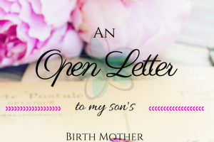 An open letter to my son's birth mother.