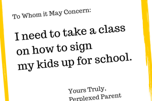 I need to take a class on how to sign
