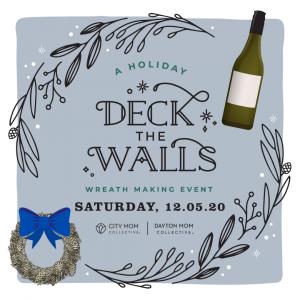 deck the walls wreath + wine