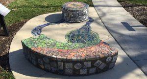 Aluminum tiled installation nature's interplay