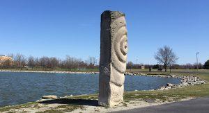 Limestone sculpture rock waves