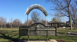 Stainless steel sculpture friendship arch