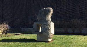 Limestone sculpture inner view